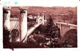 CPA LE PONT DE LA CAILLE Ancien Et Nouveau  CRUSEILLES 74 Autre Modèle Taché - Puentes