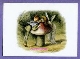 1 CARD PRINT With  ELF And FAIRY KISSING With MUSHROOM PIXIE FEE PILZ For SCRAPBOOKING FRAMING LOISIRS HOBBY CRAFTS - Vieux Papiers