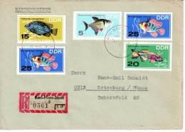 DDR Tauschsendung Einschreiben Mi. 1221/ 1223 -25 Rotenburg (B0111) - DDR