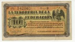 MEXIQUE : 10 Pesos Tesoreria De La Federacion (vf+) - México