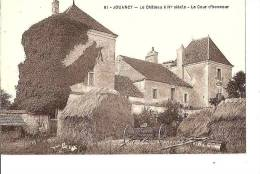 JOUANCY CHATEAU XIVè SIECLE LA COUR D'HONNEUR ,MATERIEL AGRICOLE   REF 28742 - Autres Communes