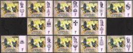 1971 13v 1C Butterfly Insect Flower Stamp Malaysia MNH - Maleisië (1964-...)