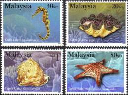 2001 Marine Sea Shell Horse Star Fish Reef Malaysia Stamp MNH - Maleisië (1964-...)