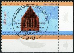 A12-07-9) BRD - Michel 2195 ECKE REU - Zentrisch OO Gestempelt (A) - 110Pf/56C Meeresmuseum Stralsund, Katharinenkloster - [7] République Fédérale