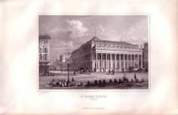 Bordeaux, Le Grand Théatre.  Gravure Originale Sur Acier De Rouargue. 1848 -FRANCO DE PORT - Prints & Engravings
