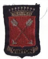Ecusson Ancien Brodé Ville De Virton. - Ecussons Tissu