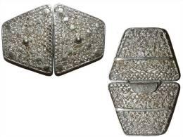 ANCIENNE BOUCLE EN ARGENT MASSIF FILIGRANE