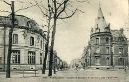 N°22622 -cpa Montluçon -Caisse D´Epargne Et Avenue Jules Ferry- - Banques