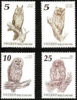Owl Bird Cat Head Hawk Nocturnal Prey Stamp Taiwan MNH - Collections, Lots & Series