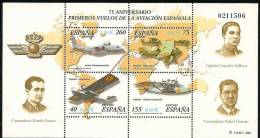 2001-ED. 3790 H.B.-1ERS.VUELOS DE LA AVIACION ESPAÑOLA-NUEVO - Blocs & Feuillets