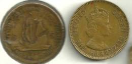 BRITISH EASTERN CARIBBEAN 5 CENTS SHIP FRONT QEII HEAD BACK 1955 READ DESCRIPTION CAREFULLY!! - Monnaies