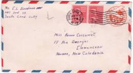 1946- Enveloppe E P 6 C + Compl. 34 C.  Par Avion Pour La Nelle Calédonie - Vereinigte Staaten