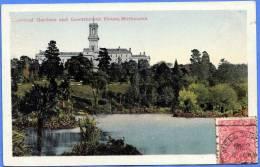 Australien MELBOURNE, Botanischer Garten Und Goverment House, Karte Vor 1945, Mit Marke, Gute Erhaltung - Melbourne