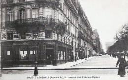 75 PARIS Société Générale  (agence AJ) 91 Av Des Champs Elysées - Arrondissement: 08