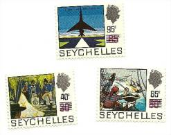 1972 - Seychelles 288/90 Soprastampati, - Seychelles (1976-...)