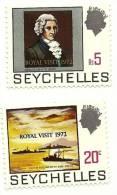 1972 - Seychelles 291/92 Soprastampati, - Seychelles (1976-...)