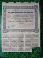 Action - Europe - France - Casino Municipal De Dinard - Dinard 1928 - Action De 100 Frs - Casino