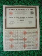 Action - Europe - France - Savonnerie Et Parfumerie De La Sevre - Ets Bertin - Nantes 1925 - Action De 125 Frs - Other