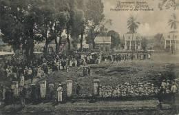 Monrovia Liberia Government Square Inauguration Of The President  1910 But Stamp Removed - Liberia