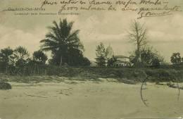 Deutsch Ost Afrika Landschaft Beim Krankenhaus Dar Es Salaam P. Used 1910 Stamp Removed - Tanzanie