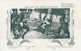 2eme Voyage James Cook Cercle Antarctique Marquises Ile  Paques , Hebrides Pub Liqueur Kermann - TAAF : French Southern And Antarctic Lands