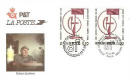 Année Culturelle FRANCE DANEMARK Enveloppe 1er Jour Robert Jacobsen Hommage à Léon Degand 1988 - JT909 - Sin Clasificación