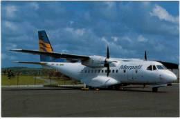 Thème - Transport - Avion -  BUCHairCARD N °8828 - IPTN (CASA) CN-235 Of Merpati Nusanatara Airlines At Singapore Changi - 1946-....: Moderne