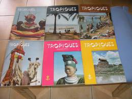 LOT DE 11 MAGAZINES TROPIQUES DE L' ANNEE 1954 - Livres, BD, Revues