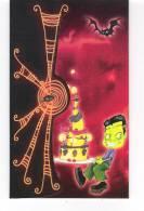 Carte - HORROR ZOO - Chauve-souris Fantôme Toile Araignée Bonhomme Vert - Halloween