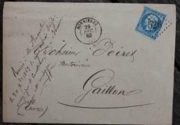 Enveloppe Marque Postale Bonnières Oblitération GC 526 Sur N° 22 - 1849-1876: Période Classique
