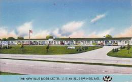 Missouri Blue Springs Blue Ridge Motel 1956