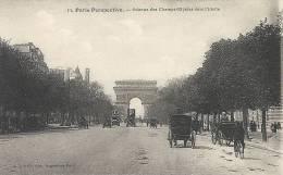 Paris- Perspective, Avenue Des Champs-Elysées Vers L'Etoile. - Panoramic Views
