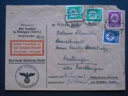 Schöner DR Dienst- Brief Mit MIF - Gelaufen Von Saulgau Nach Hailtlingen über Riedlingen - Officials