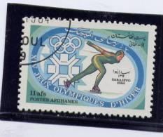 AFGHANISTAN, 1984, CTO NH # 1055,  14 WINTER OLYMPIC GAMES , SARAJEVO - Afghanistan