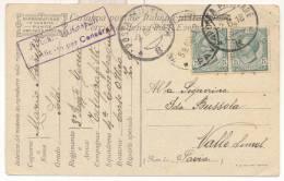 1983-P.M. 8 IN DATA 2-06-1918 AFFRANCATA LEONI 5 C. X2 SU FRANCHIGIA - 1900-44 Vittorio Emanuele III