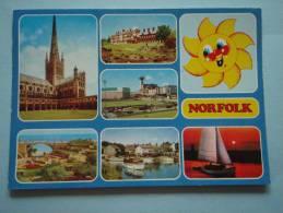 22778 PC: NORFOLK: Multi View Postcard. - Inglaterra