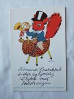 Illustrateur Kai Rich. Ecureuil Musicien Sur Monture. Publicité. Sparekassen For Kjobenhavn Og Omegn. - Unclassified