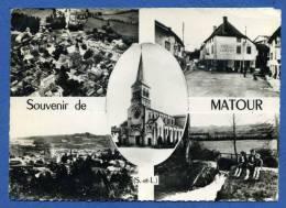 70  71  Cpsm Gf  Souvenir De Matour - France