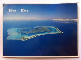 POLINESIA FRANCESE - BORA BORA - VUE AERIENNE DE LA COTE NORD-EST AVEC MAUPITI ET TUPAI - FG - V 7-8-1991 - Polinesia Francese