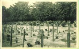 Fotokarte Fotokaart Carte Photo Cimetière Belge Dortmund 1946 Friedhof Kerkhof (soldaat Militair) - Dortmund