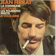 """45 Tours EP - JEAN FERRAT - BARCLAY 71464 - """" LA COMMUNE """" + 3 ( Label Papier Orange Et Blan ) - Vinyles"""