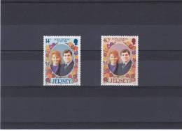 JERSEY 1986 PRINCE ANDREW Yvert 380-381 NEUF** MNH - Jersey