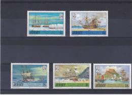 JERSEY 1987 BATEAUX Yvert 403-407 NEUF** MNH - Jersey