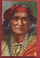 Q0458 Chief Thunderbird(1866-1946)'Chick Davis', Real Name: Richard Davis Thunderbird.Cachet Denver 1927 - Indiens De L'Amerique Du Nord
