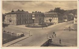 Zweibrücken Zweibruecken Germany, Goetheplatz Street Scene, C1940s Vintage Postcard Postally Used 1942 - Zweibruecken