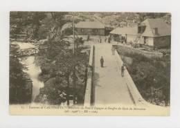 CAUTERETS : Les Environs, Hôtellerie Du Pont-d'Espagne Et Gouffre Du Gave Du Marcadau, 1909 *f1268 - France