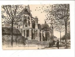 CPA 35 REDON Abside De L'église Et Promenade 4 Provient D'1 Carnet Circulé - Redon