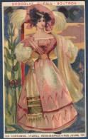 Chromo Chocolat Guerin-Boutron Costumes 2e Série Renaissance à Nos Jours 120 Parisienne 1827 - Guérin-Boutron