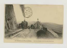 Tramway Du Puy-de-Dôme : Au Grand Rocher Et La Chaîne Des Puys Nord, 1907 *f2802 - Non Classés