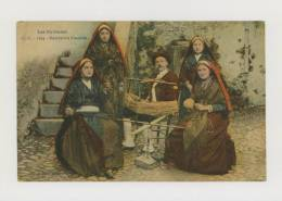 Types Des Pyrénées : Soirée En Famille - Colorisée - Fileuses *f2846 - France